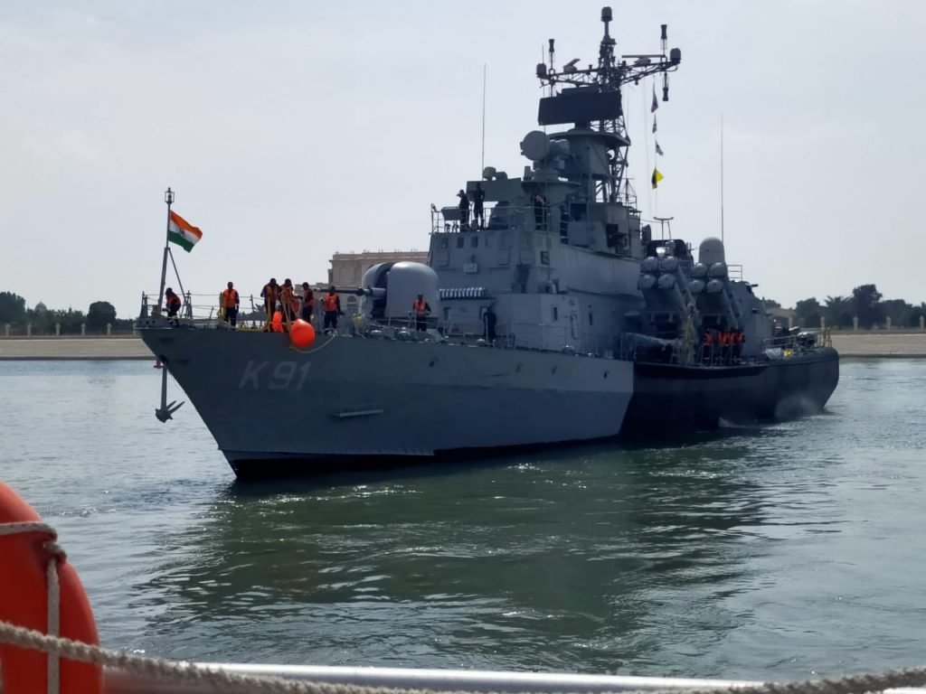 Indian Navy Ship Pralaya Arrives in Abu Dhabi, UAE to participate in NAVDEX 21 and IDEX 21