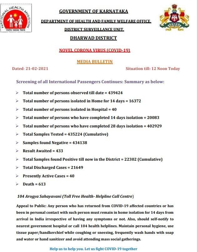 Media Bulletin on COVID