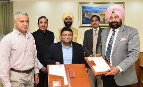PUNJAB INKS PACT WITH M/S OMIL JV FOR POWER HOUSES OF SHAHPURKANDI DAM IN PRESENCE OF SUKHBINDER SINGH SARKARIA