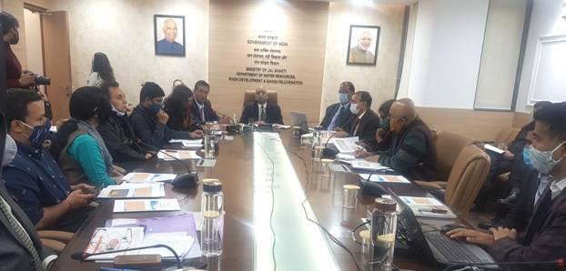 Secretary, Ministry of Jal shakti briefs media on budgetary allocations