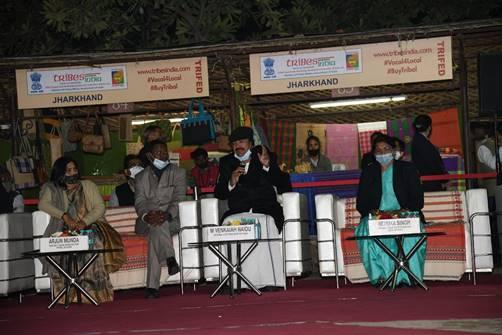 Shri Venkaiah Naidu, Vice President of India inaugurates the fortnight-long National Tribal Festival - Aadi Mahotsav at Dilli Haat