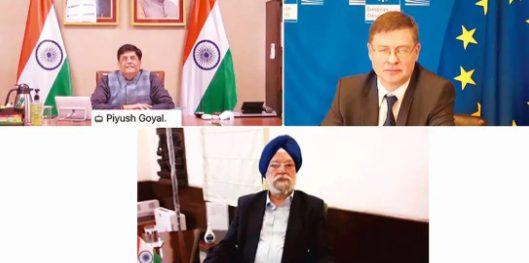 The 11thIndia-EU Macroeconomic dialogue was held here today virtually through video conferencing. Shri Tarun Bajaj, Secretary, Economic Affairs