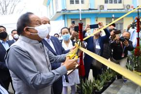 Union Health Minister Dr. Harsh Vardhan lays foundation stone of Mon Medical College, Nagaland