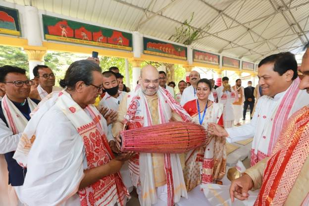 Union Home Minister Shri Amit Shah attended consecration ceremony of Mahamrityunjayatemple in Naogaon, Assam
