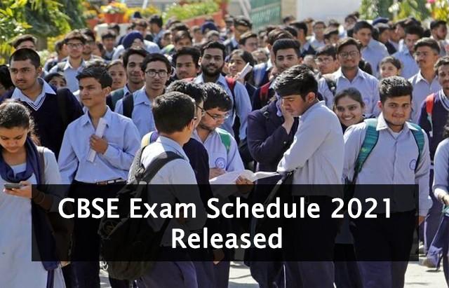 cbse exam schedule 2021 released