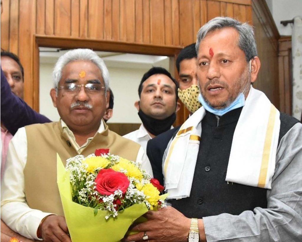 मुख्यमंत्री श्री तीरथ सिंह रावत ने पवेलियन