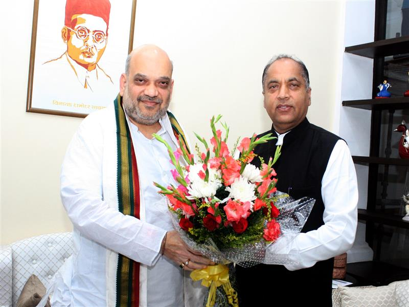 Chief Minister Jai Ram Thakur called on Union Home Minister Amit Shah at New Delhi today.