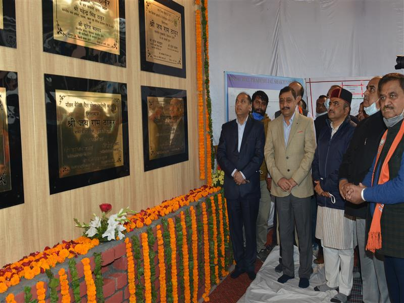 CM inaugurates and lays foundation stone of projects worth Rs. 34 crore in Solan