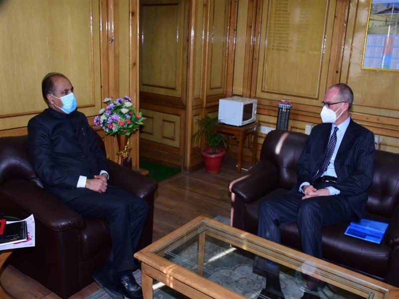CM interacts with Ambassador of Switzerland to India
