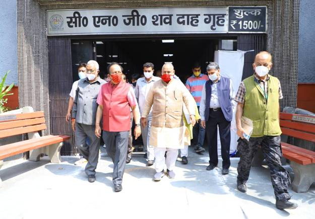 Dr. Harsh Vardhan inaugurates four pyres of the Green Crematoria