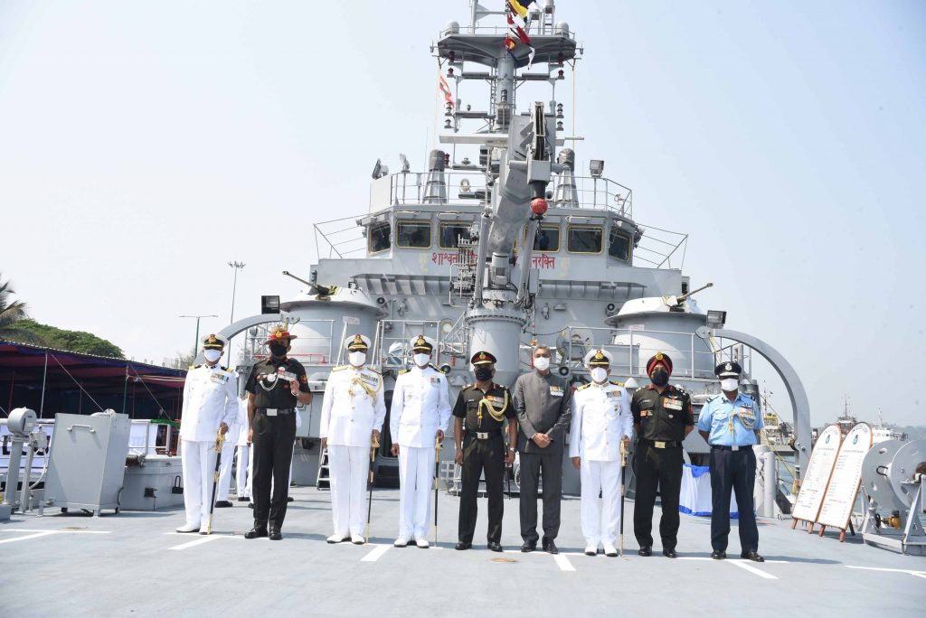 Indigenously built Indian Naval Landing Craft Utility L58 Commissioned at Port Blair