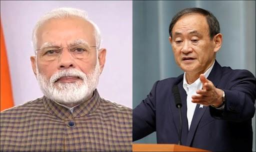 Phone call between Prime Minister Shri Narendra Modi and H.E. SUGA Yoshihide, Prime Minister of Japan