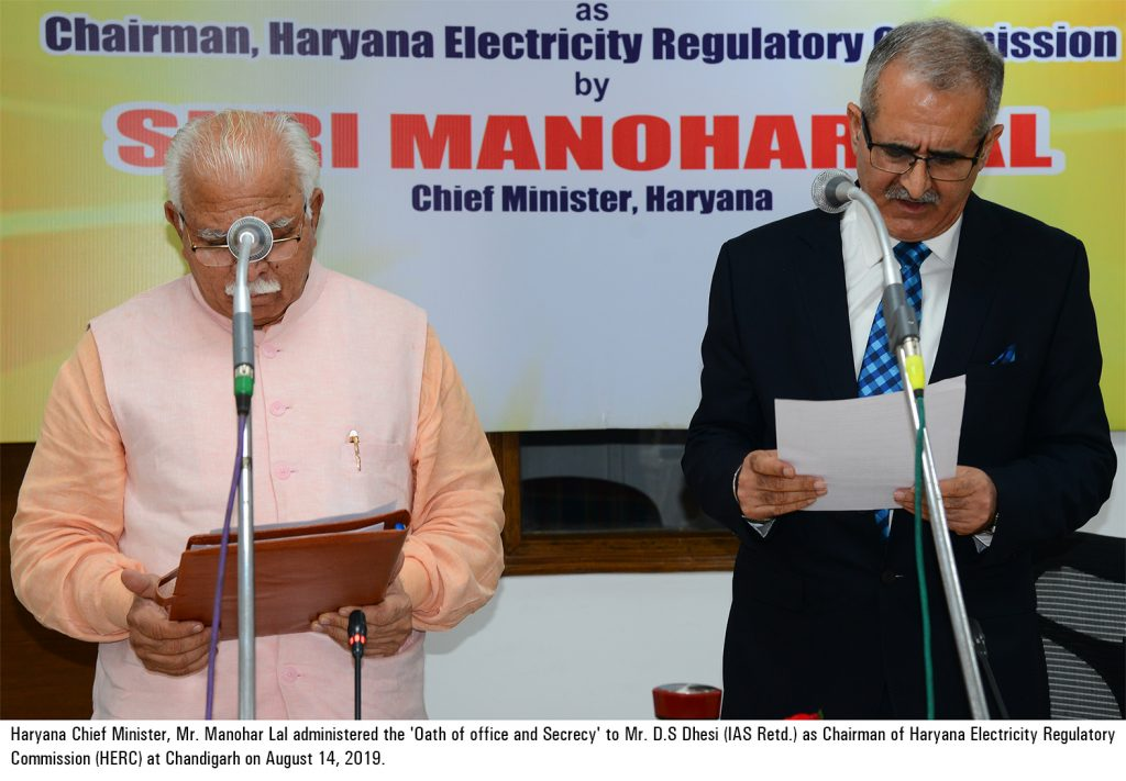 Power Minister, Sh. Ranjit Singh alongwith Additional Chief Secretary