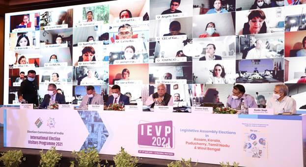 ECI hosts 2 day International Virtual Election Visitors Programme (IVEP) 2021 on April 5-6, 2021