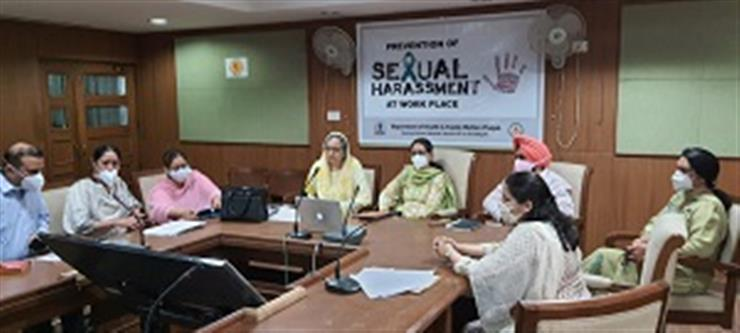 Health department organises workshop on Prevention of Sexual Harassment at Workplace