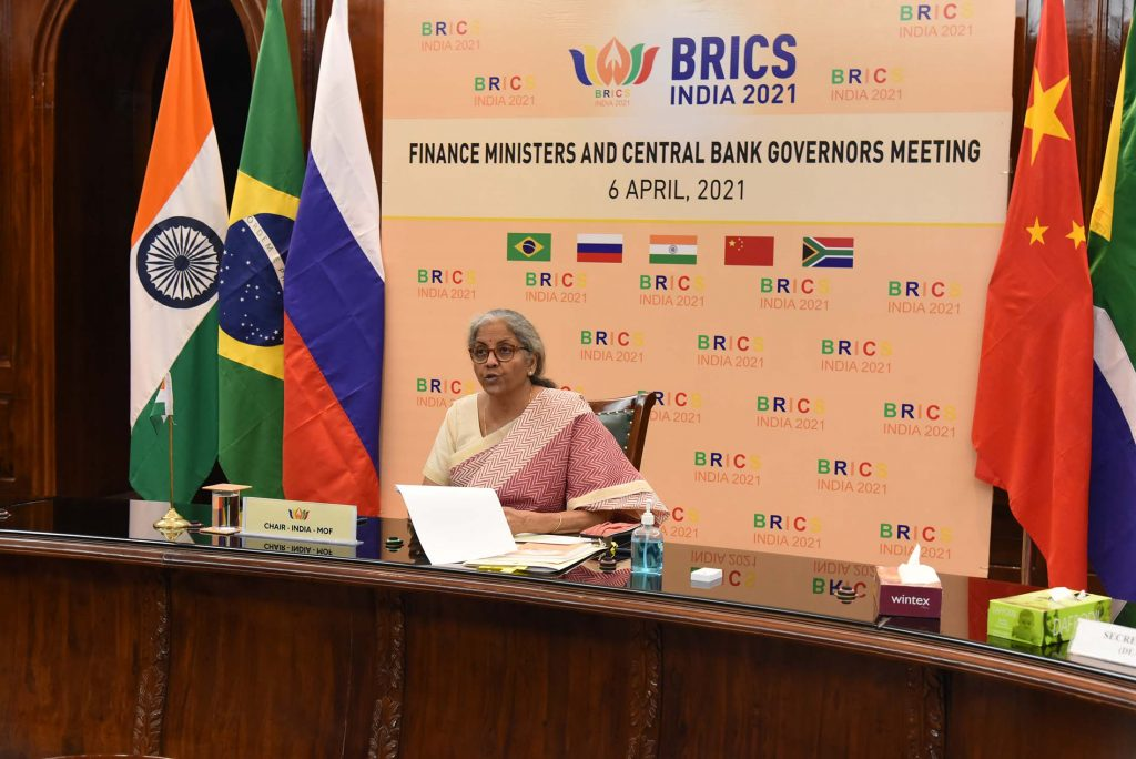 India hosts First Meeting of BRICS Finance Ministers and Central Bank Governors April 6 2021