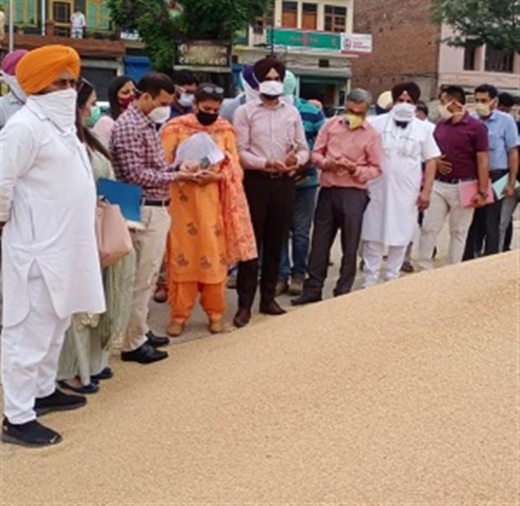 SECRETARY MANDI BOARD TAKES STOCK OF WHEAT PROCUREMENT IN MANDIS OF MOHALI AND RUPNAGAR DISTRICTS