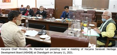 Sh. Manohar Lal today attended the virtual review meeting held under the Chairmanship of Prime Minister Sh. Narendra Modi with Chief Ministers of all the states,