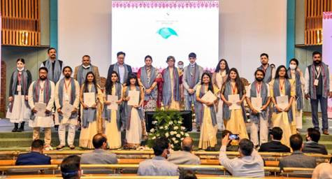 The first convocation of the National Institute of Fashion Technology (NIFT) Srinagar was held today at Sher-i-Kashmir International Conference Centre in Srinagar.