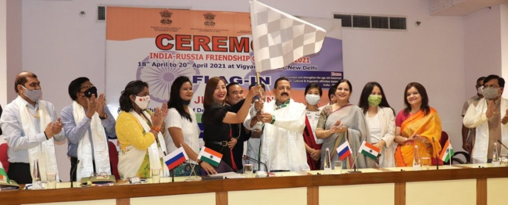 Union Minister Dr Jitendra Singh flags off India Russia Friendship Car Rally 2021