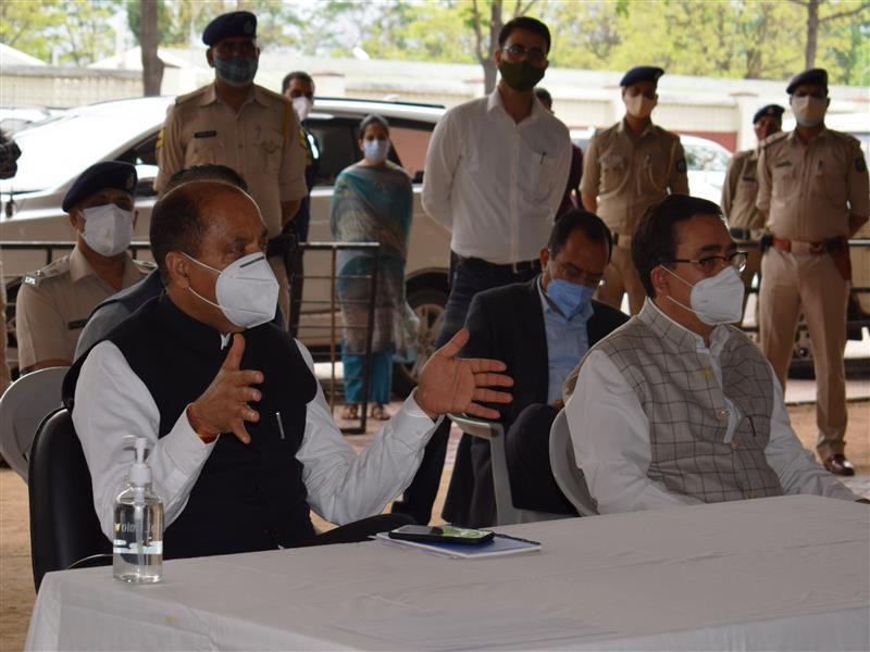 Chief Minister Jai Ram Thakur while presiding over the meeting with senior officers of Kangra district through video conferencing from Chamba today directed to increase additional