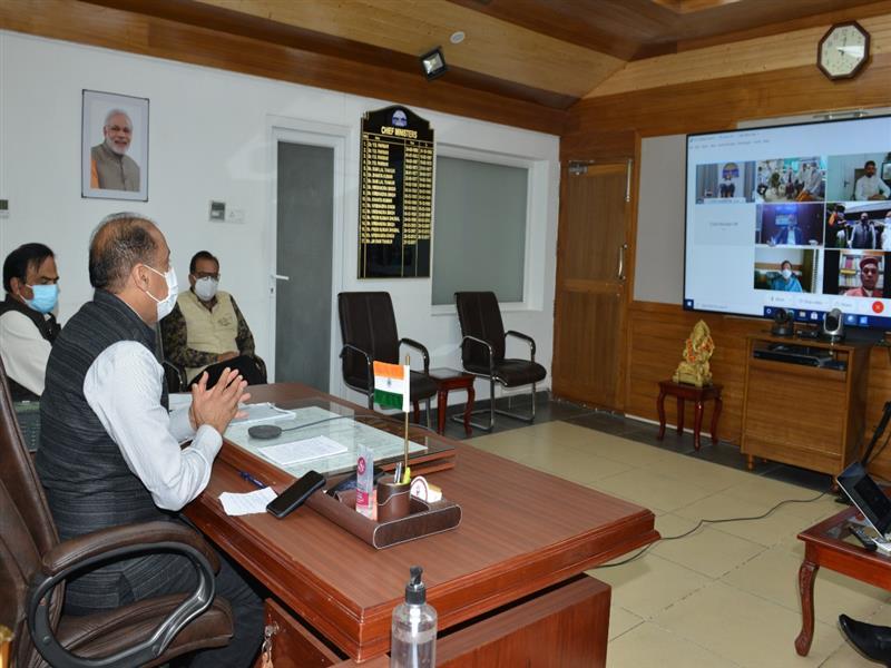 Chief Minister Jai Ram Thakur inaugurated Pressure Swing Adsorption (PSA) Oxygen Plants at Dr Radhakrishanan Government Medical College Hamirpur and Pt. Jawahar Lal