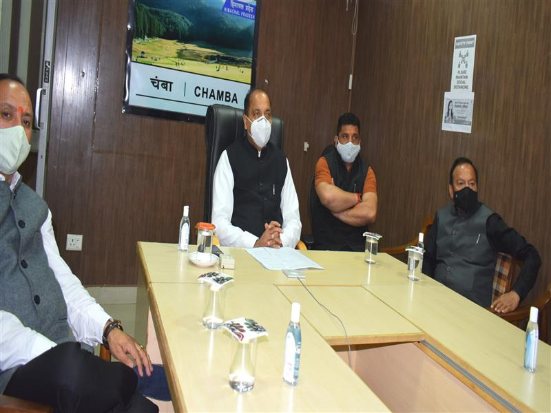 CM lays foundation stones of projects worth Rs. 66.36 crore for Thunag area