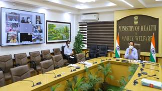 Dr. Harsh Vardhan reviews Public Health Response to COVID-19 and Progress of Vaccination with 6 States/UT