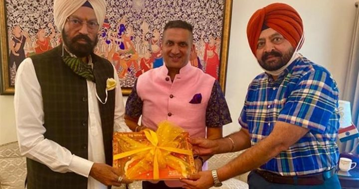 Punjab Sports, Youth Services and NRIs Affairs Minister Rana Gurmit Singh Sodhi, on Wednesday, released the Coffee Table Book depicting spiritual journey of Ninth Sikh Master, Sri Guru Tegh Bahadur Sahib.
