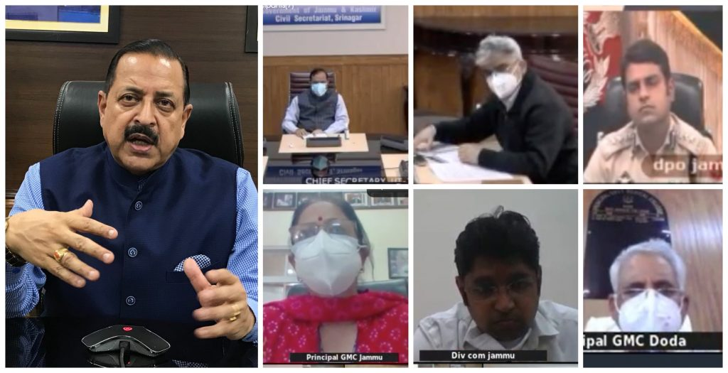 Union Minister Dr. Jitendra Singh calls for audit of oxygen cylinders and ventilators in GMC Jammu