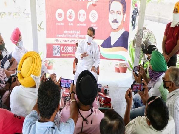 Vijay Inder Singla launches Covid ambulance & door to door awareness campaign in Sangrur
