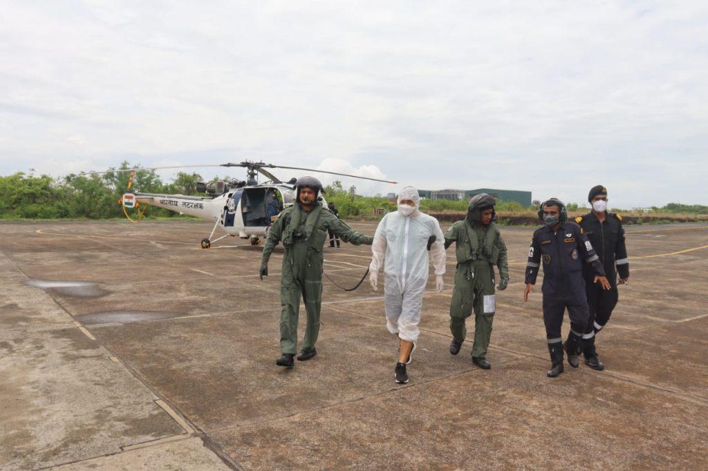 Indian Coast Guard successfully conducts swift medical evacuation off Goa