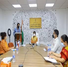 Tribal Affairs Minister Shri Arjun Munda launches 'AdiPrashikshan Portal' and 3 -Day Online Capacity Building Programme for ST PRI Members