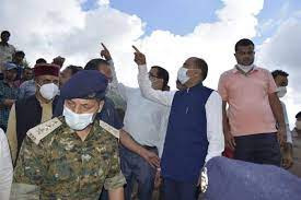 CM conducts aerial survey of flash flood affected areas in Kangra district