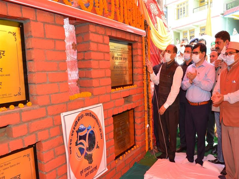 CM inaugurates and lays foundation stones of Rs. 234 crore in Ani Assembly constituency