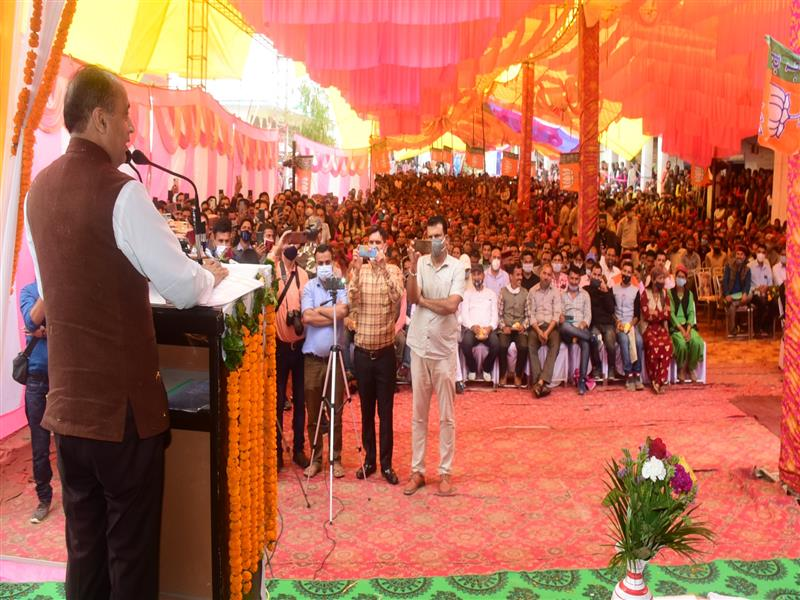 Chief Minister Jai Ram Thakurtoday inaugurated and laid foundation stones of developmental projects of around Rs. 55 crore in Ashla and Karsog in Karsog Vidhan Sabha area of district Mandi.