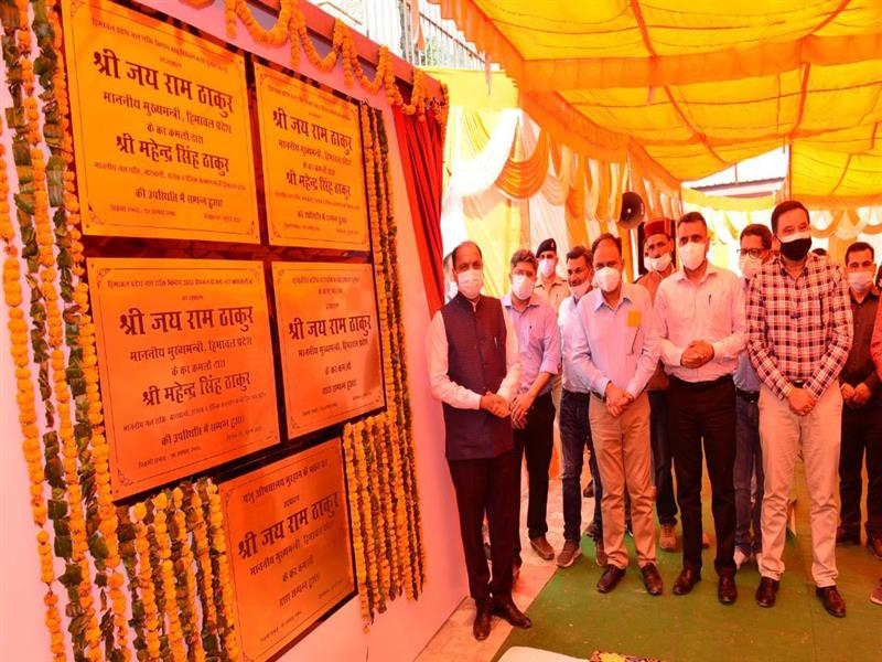 Chief Minister Jai Ram Thakur today inaugurated developmental projects worth about Rs 9.20 crore in Seraj Vidhan Sabha area of Mandi district.