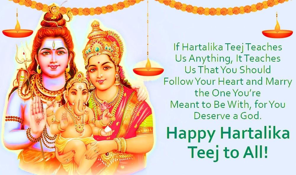 Happy Hartalika Teej Quotes