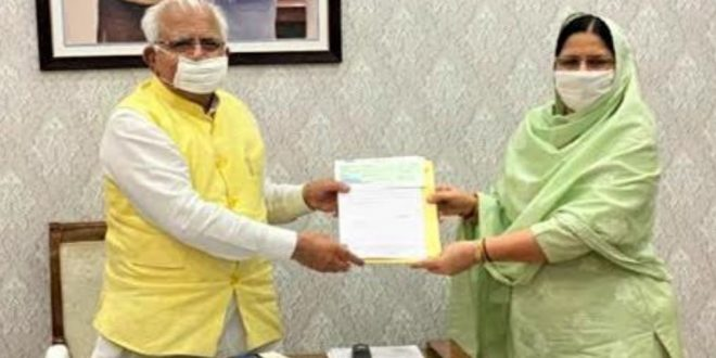 Haryana Minister of State for Woman and Child Development