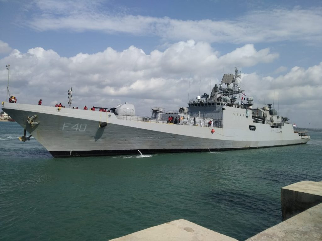 Indian Naval Ship Talwar in Mombasa to Participate in Exercise Cutlass Express 2021