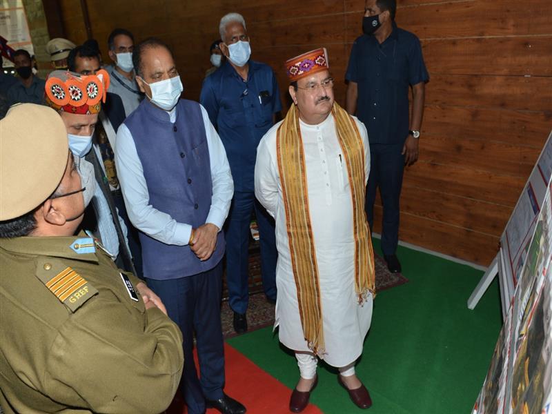 JP Nadda and Jai Ram Thakur visit Atal Tunnel Rohtang