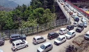 No massive traffic jam in Himachal Pradesh