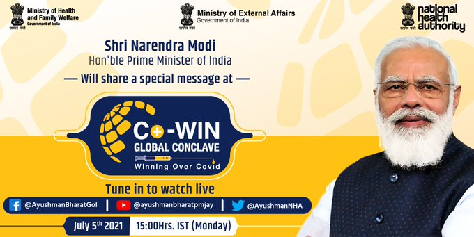 PM to address CoWIN Global Conclave tomorrow