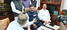 Shri Kapil Moreshwar Patil takes the charge as MoS in the Ministry of Panchayati Raj