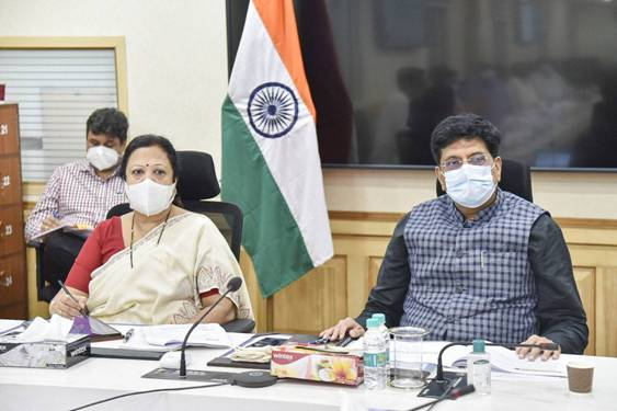 Shri Piyush Goyal holds an in depth review of initiatives undertaken by Ministry of Textiles for giving a boost to the textiles sector.