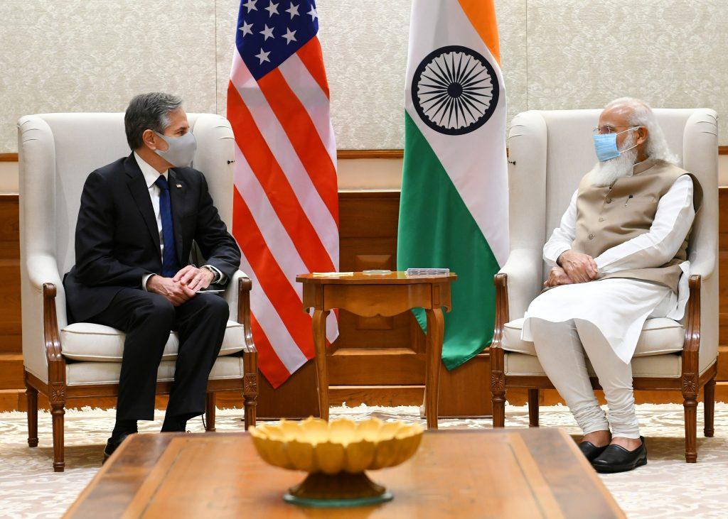 U.S. Secretary of State Antony Blinken called on Prime Minister Narendra Modi