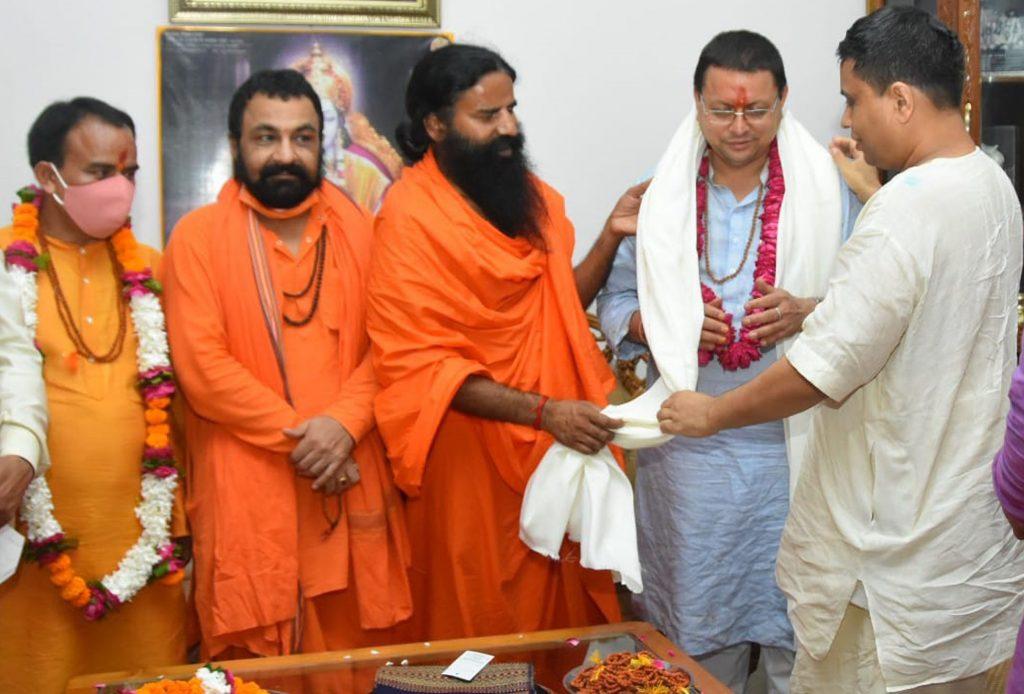 mukhyamantree shree pushkar sinh dhaamee ne divy yog mandir kanakhal mein jaakar svaamee raamadev evan aachaary baalakrshn se bhent kar unaka aasheervaad praapt kiya.