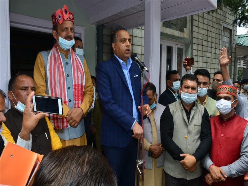 CM addresses delegation of HP Buildings and Other Construction Workers Welfare Board