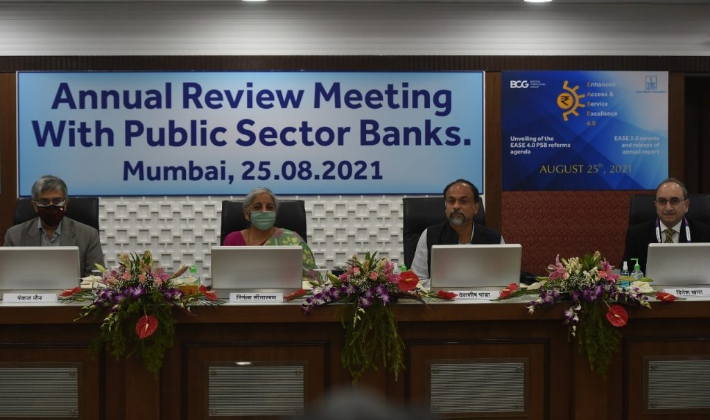 Finance Minister Smt. Nirmala Sitharaman compliments Public Sector Banks on scripting turnaround