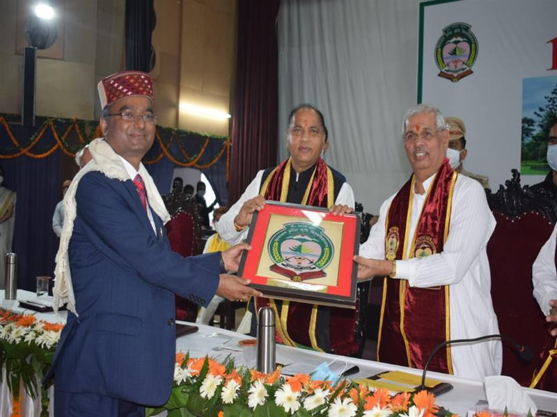 Convocation of Chaudhary Sarwan Kumar Himachal Pradesh Agriculture University Palampur was held at the University Auditorium at Palampur in Kangra district today.